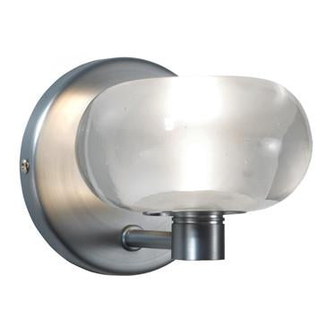 Jesco Lighting WS225-CR/SN The BUBBLE crystal shade is a brilliant contemporary styling and comes in a beautiful Wall Sconce design as well as a Quick Adapt Pendant - Peazz.com
