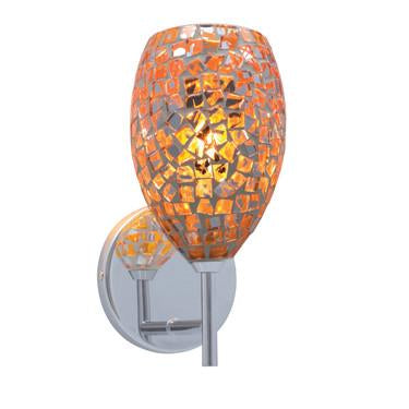 Jesco Lighting WS232-OR/CH Orange/Chrome - JescoStore