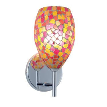 Jesco Lighting WS232-PKYW/CH Pink/Yellow Shade/Chrome - JescoStore
