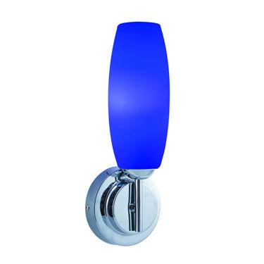 Jesco Lighting WS241-BU/CH Soffi Wall Sconce, Glass/Chrome, Blue - JescoStore