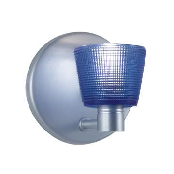 "Jesco Lighting WS293-BU As the name implies, this Wall Sconce comes in a choice of red, white or cobalt blue cone with subtle, tiny grid detailing making this ""simple"" fixture so simply special - Peazz.com"