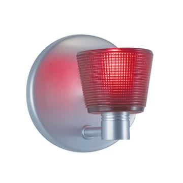 "Jesco Lighting WS293-RD As the name implies, this Wall Sconce comes in a choice of red, white or cobalt blue cone with subtle, tiny grid detailing making this ""simple"" fixture so simply special - Peazz.com"