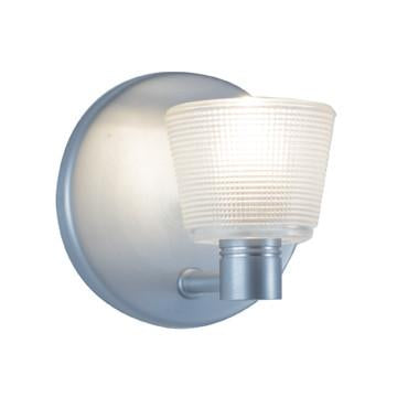 "Jesco Lighting WS293-WH As the name implies, this Wall Sconce comes in a choice of red, white or cobalt blue cone with subtle, tiny grid detailing making this ""simple"" fixture so simply special - Peazz.com"