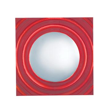 Jesco Lighting WS294-RD BONBON is an ADA compliant glass Wall Sconce in dazzling blue, green and red with molded ripples and a floating chrome center - Peazz.com