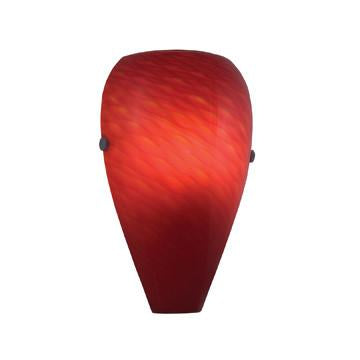 Jesco Lighting WS296-RD Aura Series 296 1-Light Wall Sconce, Red - JescoStore