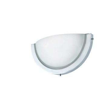 Jesco Lighting WS323M-CFL Halfmoon I Series 323 2-Light Wall Sconce, Frosted, Medium - JescoStore