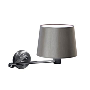 Jesco Lighting WS616SW The CLUBROOM suite features an elegant gray shade with satin nickel accents - Peazz.com