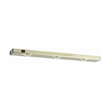 Jesco Lighting XM324-PB 3-Light Xenon Minuet Light Strip - Peazz.com