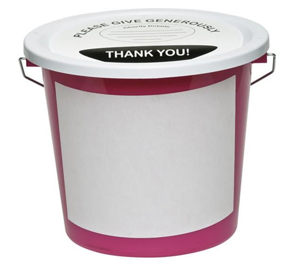 2 Front Labels for Charity Collection Bucket