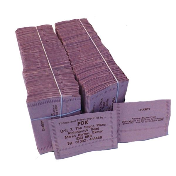 625 Numbered Tombola Tickets