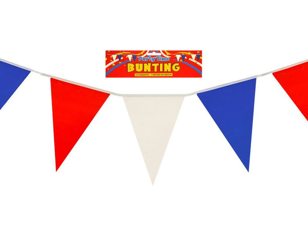 Red, White and Blue PVC Bunting 7m
