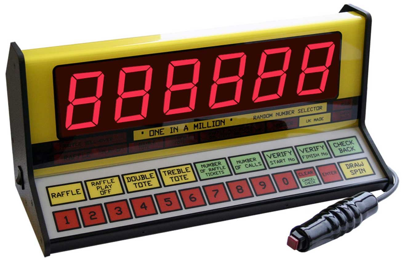 One-In-A-Million Raffle & Tote Random Number Selector