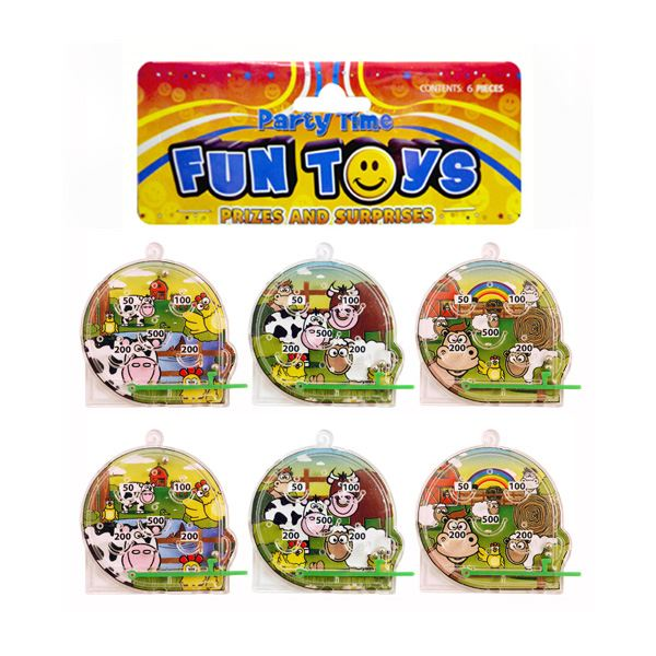 Bag of 6 Mini Farm Pinball Puzzles