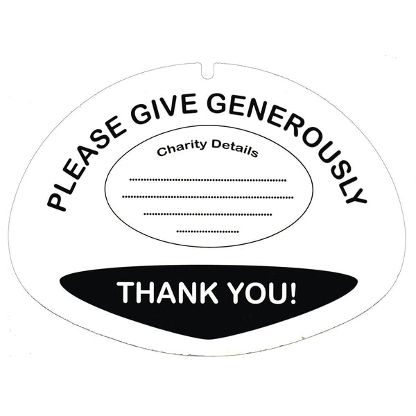 10 Lid Labels for Charity Collection Buckets