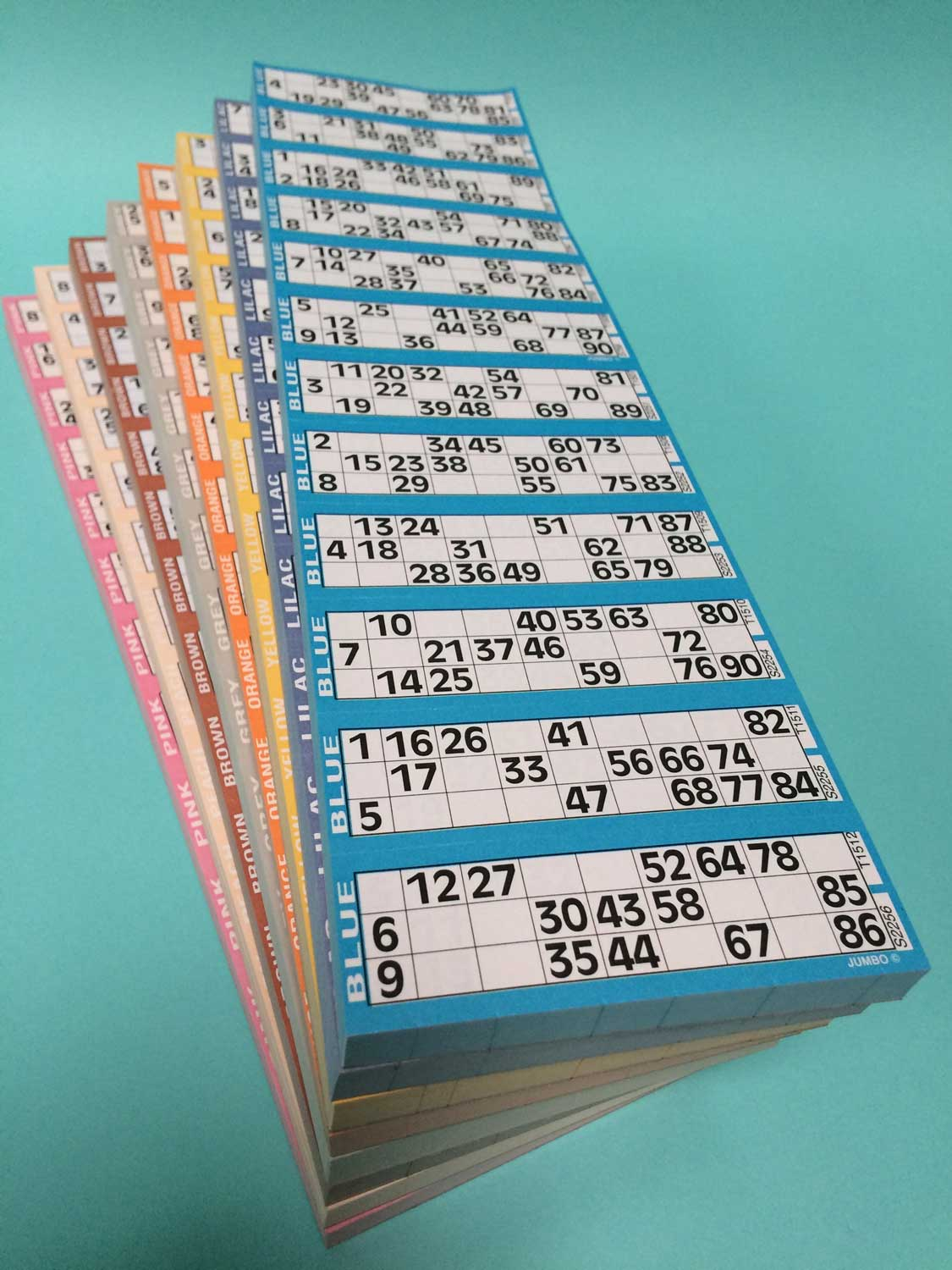 8 Pads of Bingo Single Flyers - 12 To View