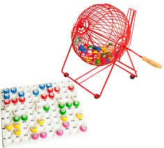 Medium Bingo Cage with 22mm Balls & Checkboard