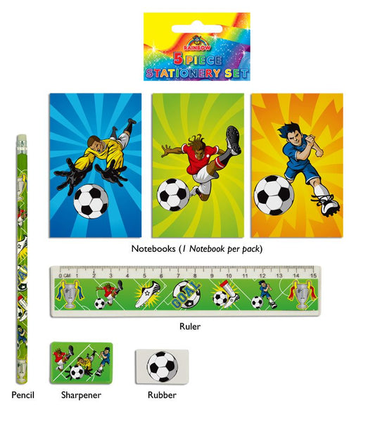 Football 5-Piece Stationery Set