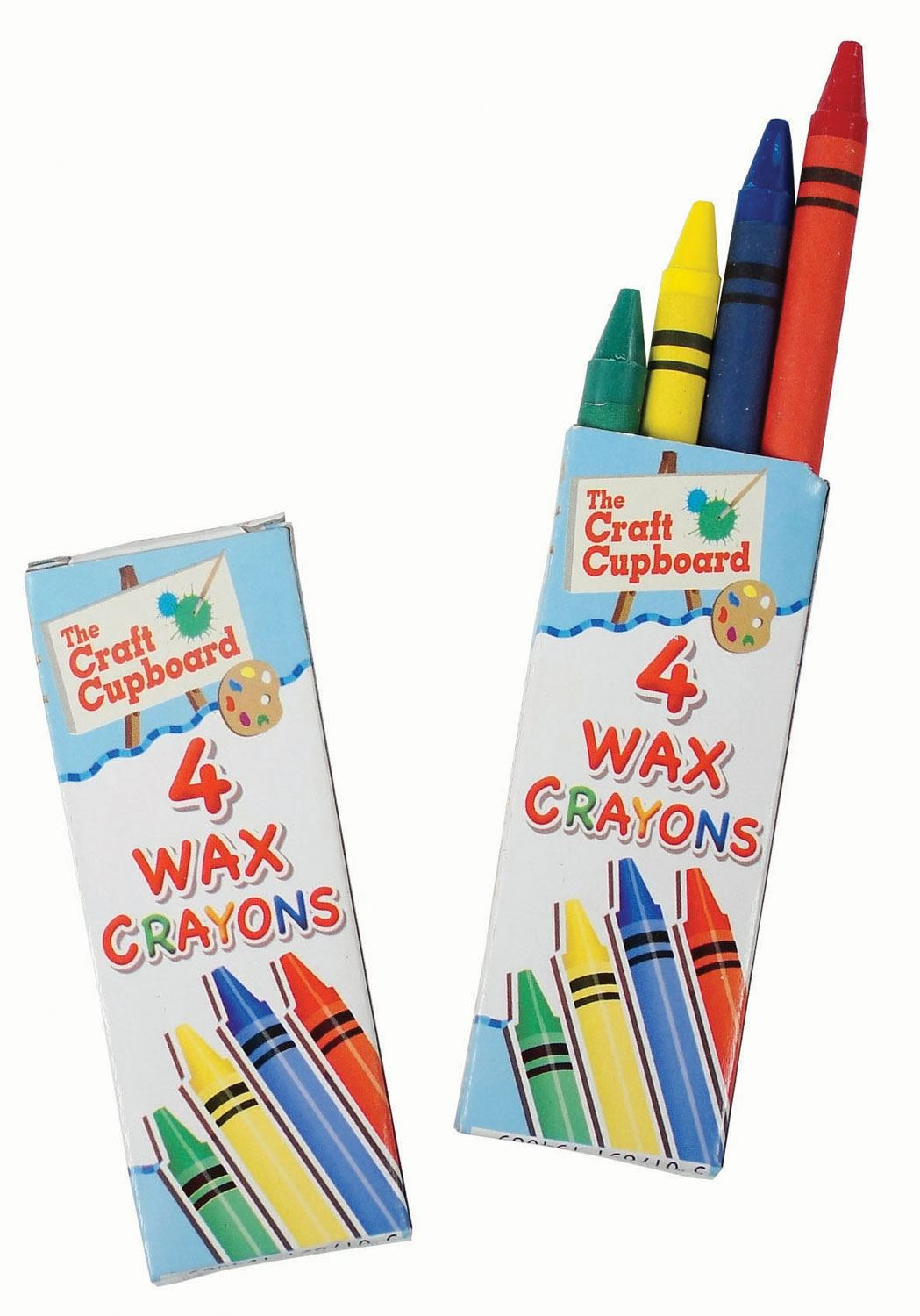 100 Packs of 4 Wax Crayons