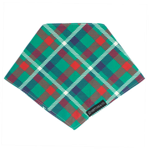 Holiday Plaid Bandana - Neptune & Co.