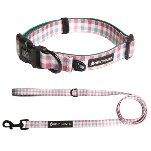 Plaid Out Holidaze Collar and Leash Set - Neptune & Co.