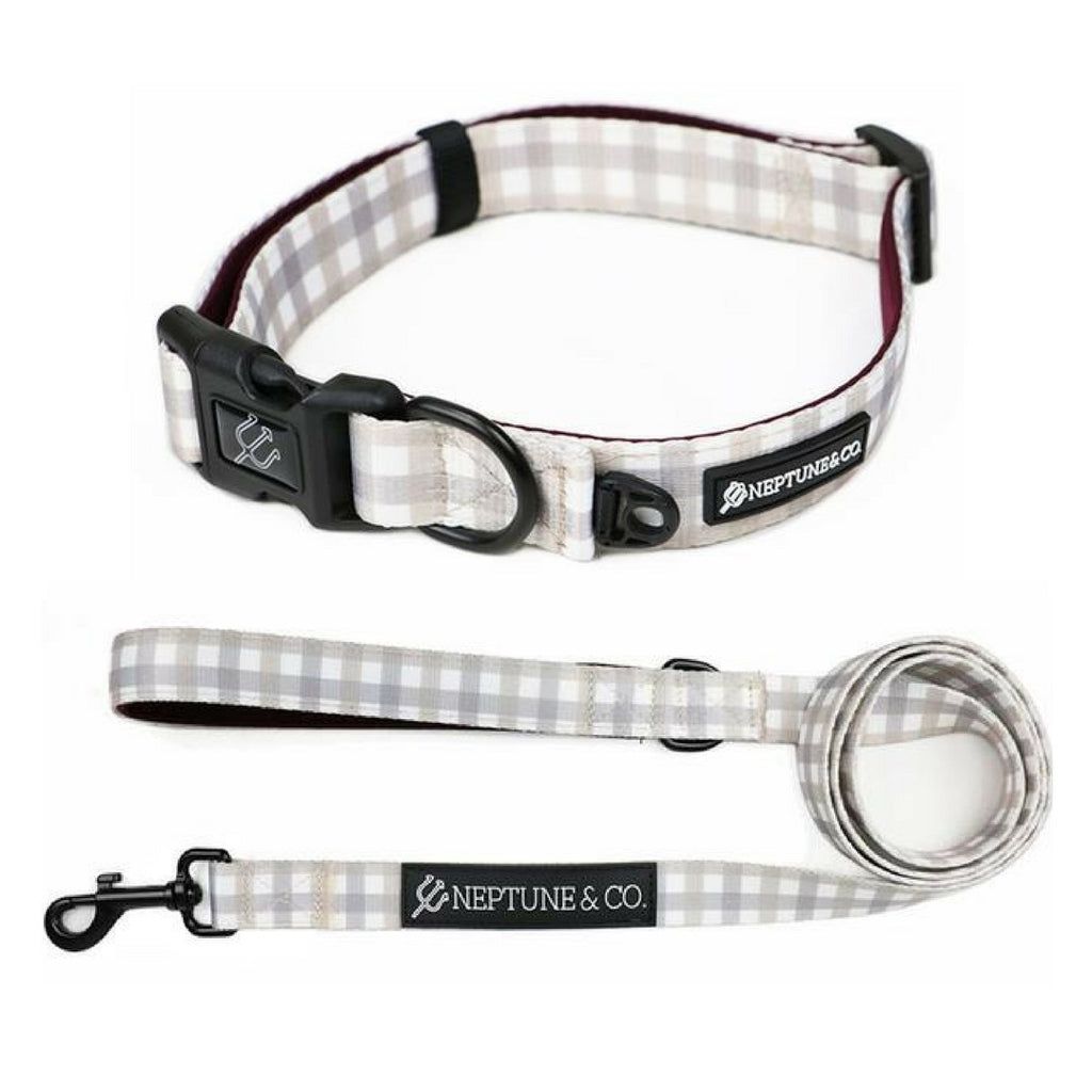 Plaid Out Collar and Leash Set - Neptune & Co.