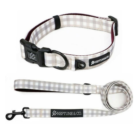 Plaid Out Collar and Leash Set