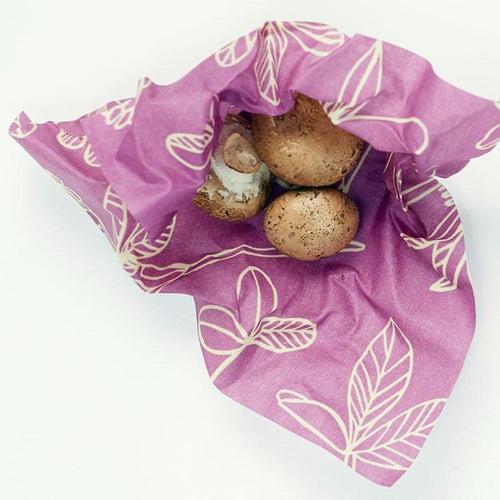 Reusable Beeswax Wrap - Clover 3 Assorted Sizes (S, M, L)