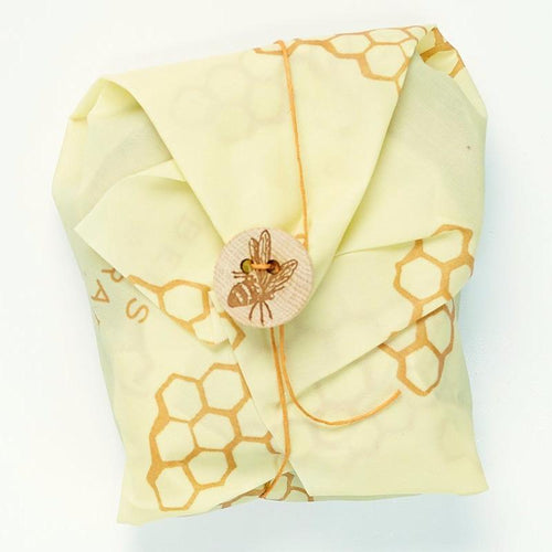 Reusable Beeswax Wrap - Single Sandwich Wrap