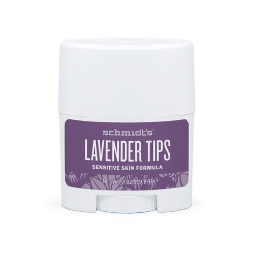 Natural Deodorant - Sensitive Skin - Lavender Tips - Travel Size