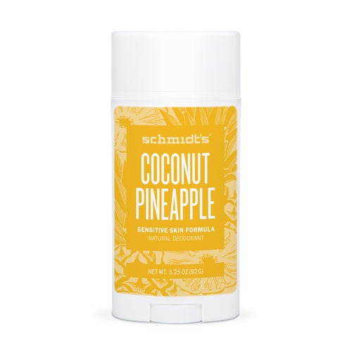 Natural Deodorant - Sensitive Skin - Coconut Pineapple - Full Size