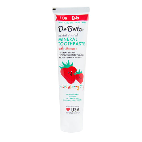 Natural Toothpaste - Kid's Strawberry - Full Size