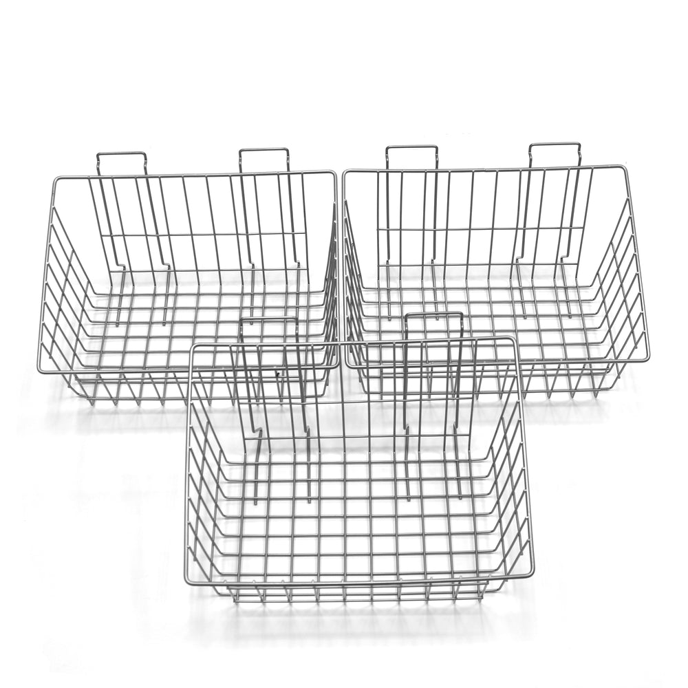 Metal Basket 15 x 8 x 11 in. – 3 pack
