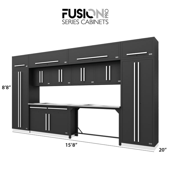 Fusion PRO Cabinets – 14 Piece HOBBY Set – With Overheads – The works