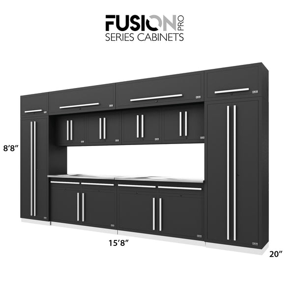 Fusion PRO Cabinets – 14 Piece CUBE Set – With Overheads