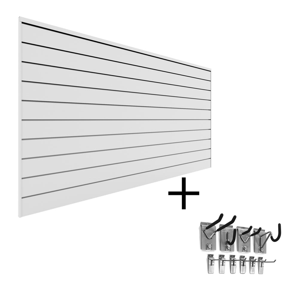 Basic PVC Slatwall Mini Bundle
