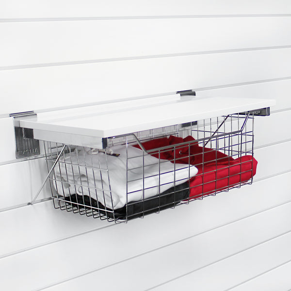 Chrome Pull-out Basket with Shelf
