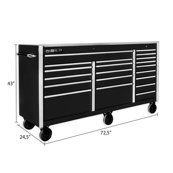 MCS 72 in. Rolling tool chest – Black