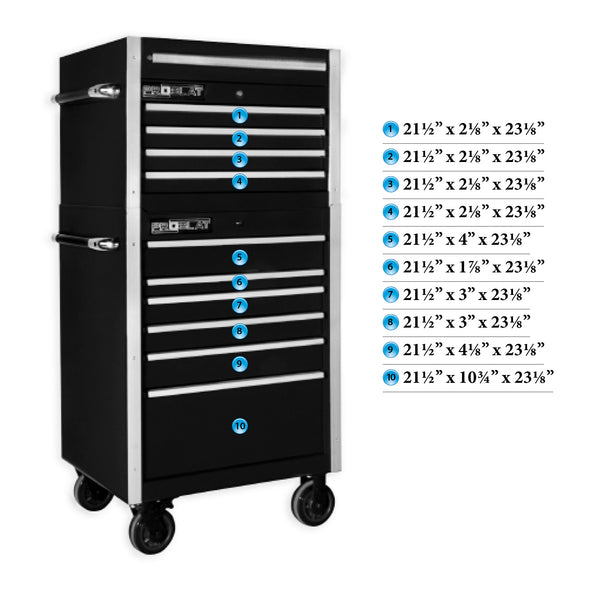 MCS 30 in. Rolling tool chest combo – Black