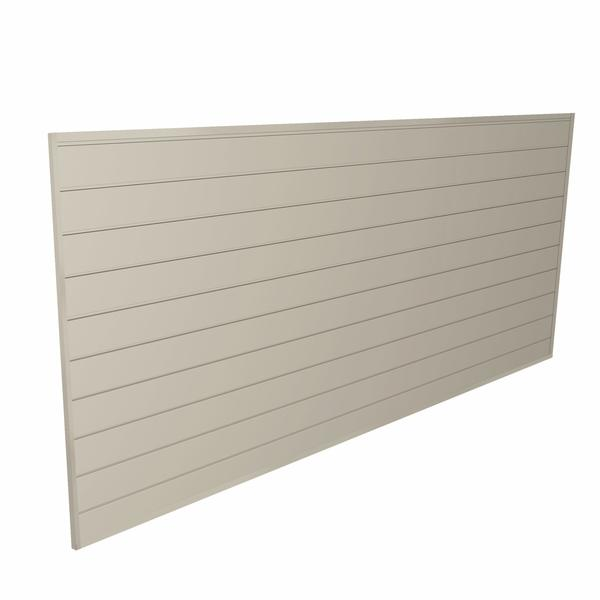 Family 4 Pack - 8 ft. x 4 ft. PVC Slatwall + FREE H Trim