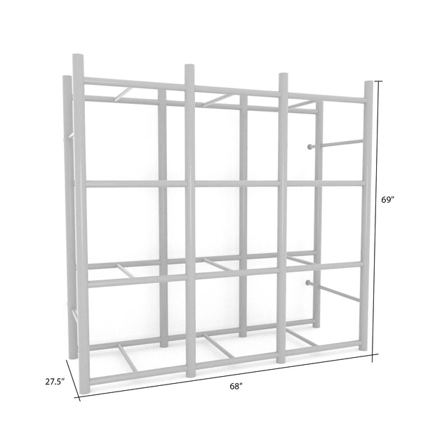 Bin Warehouse Rack – 12 Tote with 3 x 4PK 32 gallon Fold-A-Tote