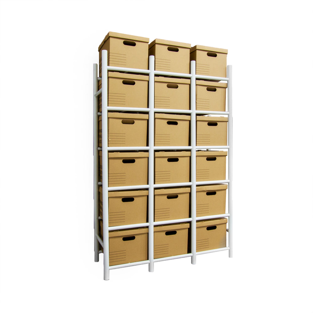 Bin Warehouse Rack – 18 Filebox