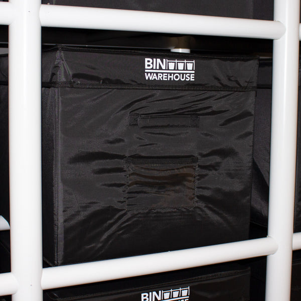 Bin Warehouse Rack – 18 Filebox with 2 x 6 PK 9 gallon Fold-A-Tote