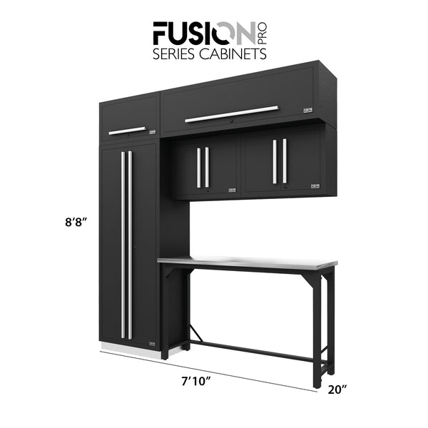 Fusion PRO Cabinets – 7 Piece HANDY – With Overheads – The works