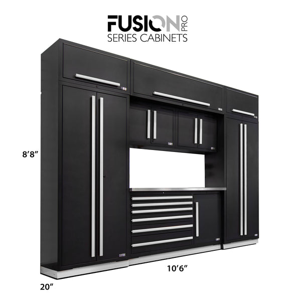 Fusion PRO Cabinets – 9 Piece TOOL set – With Overheads – The works