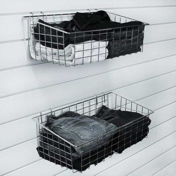 Chrome Basket 24 x 12.5 x 8 in. – 2 pack