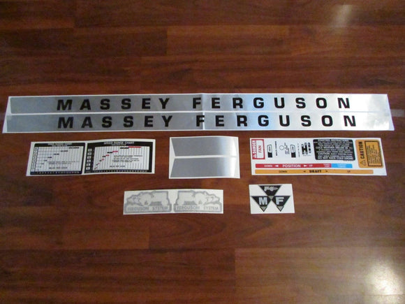 Massey Ferguson Deluxe Tractor 135 Gas Decal Set – D&M Supply Inc.