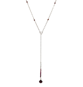 The Garnet Ombre Lariat Necklace