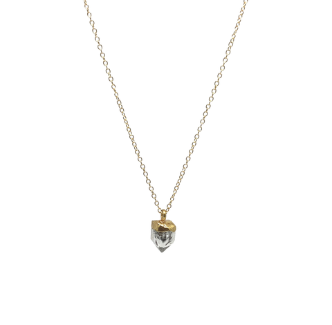 Herkimer Quartz Diamond Necklace