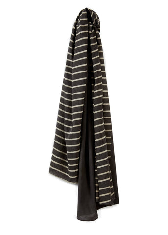 Long Scarf 1/2 Stripe Grey