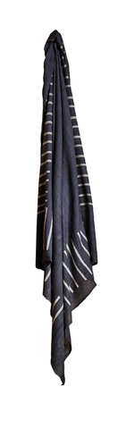 Square Scarf Stripe Grey